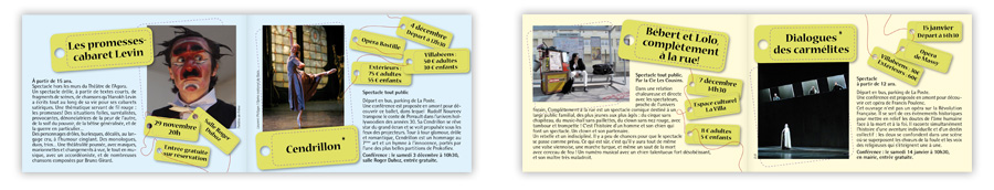 Doubles-pages programme culturel